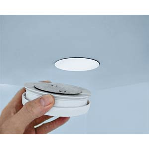 Magnetic mounting system for smoke detectors GEV 3163
