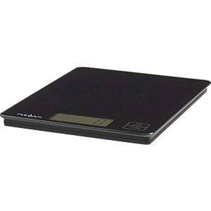 Digitale Küchenwaage, LCD, Glas, schwarz NEDIS KASC112BL