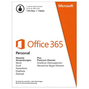 Software, Office 365 Personal (1 Jahr) MICROSOFT QQ2-00538