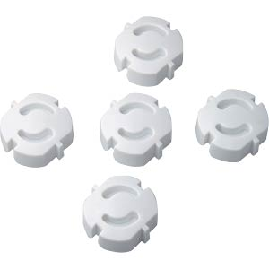 Plug protector, white: 5 pieces FREI
