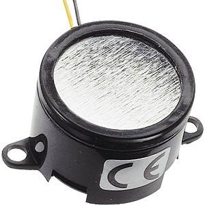 Buzzer, continuous tone 12 V DC, f=3 kHz, Ø=28 mm EKULIT AL-28SW12-DT