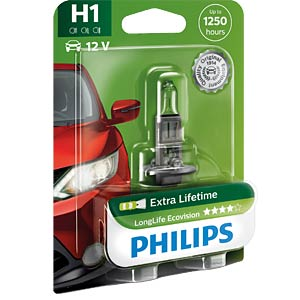 H1 headlight bulb Philips Longlife Eco Vision PHILIPS 12258LLECOB1