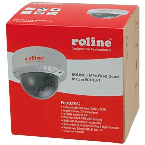 4 MPx fixed dome IP camera, RDOF4-1 ROLINE RDOF4-1