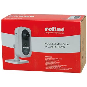 3-MPx cube IP camera, RCIF3-1W ROLINE 21.19.7304