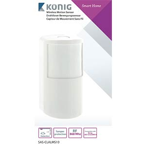 Wireless motion sensor for SAS-CLALARM10 KÖNIG SAS-CLALMS10