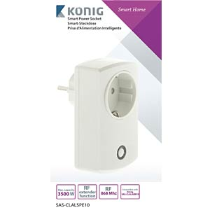 Smart power socket for SAS-CLALARM10 KÖNIG SAS-CLALSPE10