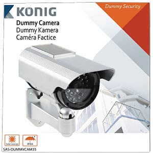 Outdoor solar dummy camera KÖNIG SAS-DUMMYCAM35