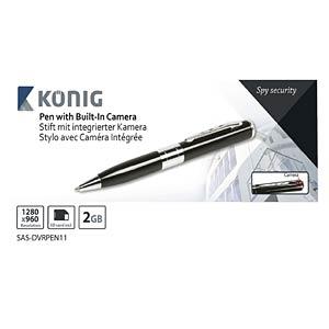 Stift mit versteckter Kamera KÖNIG SAS-DVRPEN11