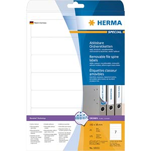 SPECIAL A4 removable file labels HERMA 10155