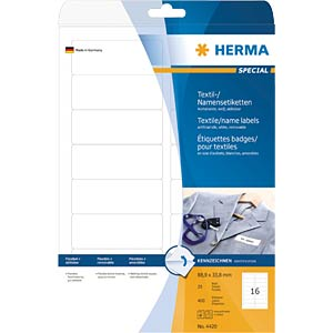 SPECIAL A4 name/textile labels HERMA 4420