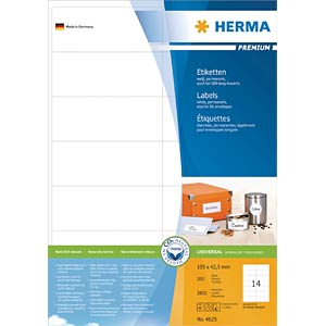 PREMIUM A4 labels 200 sheets/pack HERMA 4625