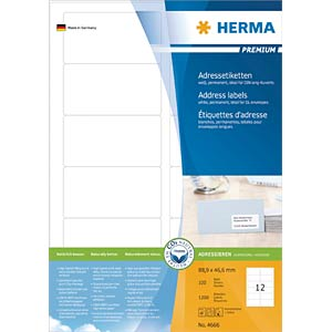 PREMIUM A4 labels 100 sheets/pack HERMA 4666