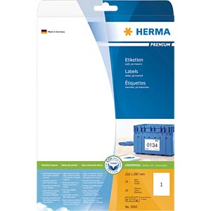 PREMIUM A4 labels 25 sheets/pack HERMA 5065