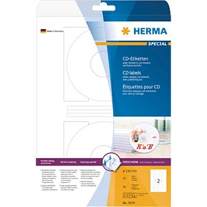 SPECIAL A4 CD labels (paper) HERMA 5079