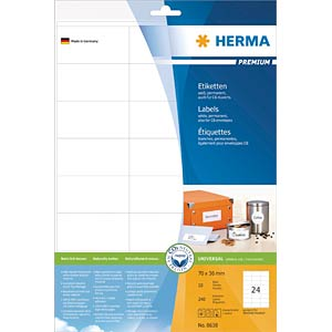 PREMIUM A4 labels 10 sheets/pack HERMA 8638