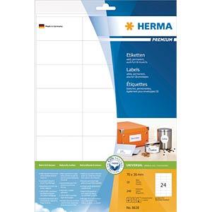 Universal-Etiketten, 70 x 36 mm, 240 Stück, weiß HERMA 8638