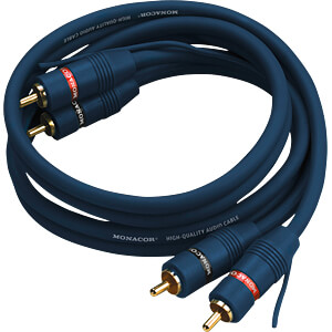 Cinch Kabel, hochflexibel, 0,8 m, blau CARPOWER 06.4730