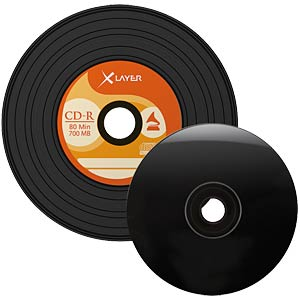 XLayer CD-R 80 min, vinyl look, 50x, CakeBox XLAYER 105156