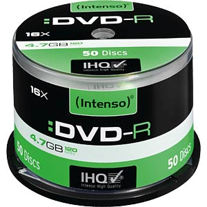 Intenso DVD-R 4.7 GB, 50-disc cake box INTENSO 4101155