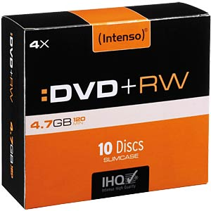 Intenso DVD+RW 4,7GB, 10er-SlimCase INTENSO 4211632