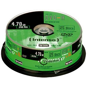 Intenso DVD-R 4,7GB, 25-er Cakebox INTENSO 4101154