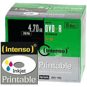 Intenso DVD-R 4.7 GB, SlimCase, printable INTENSO 4801652