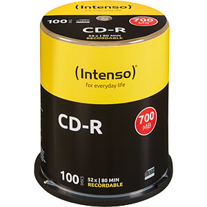 Intenso CD-R 700MB/80min, 100-er CakeBOX INTENSO 1001126