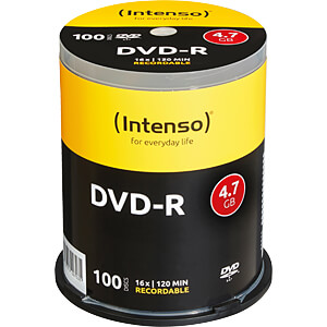 Intenso DVD-R 4,7GB, 100-er Cakebox INTENSO 4101156