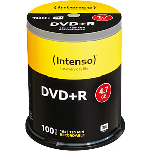 Intenso DVD+R 4,7GB, 100-er CakeBox INTENSO 4111156