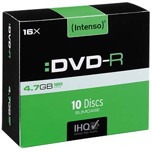 Intenso DVD-R 4,7GB, 10-er SlimCase INTENSO 4101652