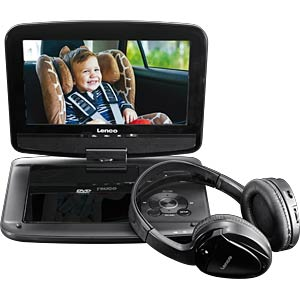 Draagbare dvd-speler met monitor en hoofdtelefoon LENCO DVP-937