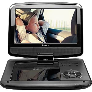Portable DVD Player with Monitor, DVB-T2-Tuner LENCO DVP-9413