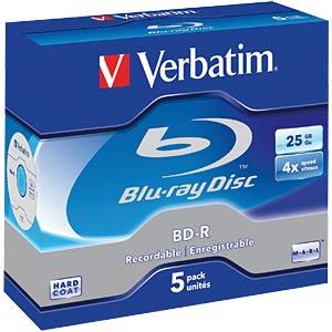 BD-R, 25GB, 5er Pack VERBATIM 43715