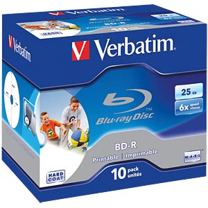 Blu-ray Disc/25 GB/printable/jewel case VERBATIM 43713
