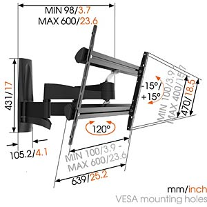 Full-Motion TV Wall Mount VOGELS 73202349