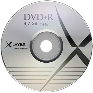 XLayer DVD+R 4,7GB, 25-er Shrink Pack XLAYER 104810