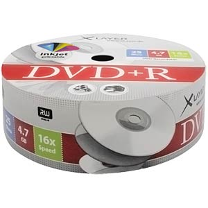 XLayer DVD+R 4,7GB,printable 25-er Shrink Pack XLAYER 104811