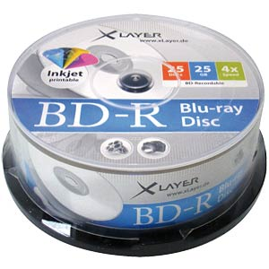 XLayer Blu-ray BD-R 25 GB, cake box of 25 XLAYER 105791