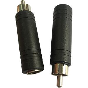RCA plug to 6.35-mm jack socket RND CONNECT RND 205-00572