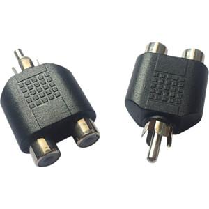 Cinch Stecker auf 2x Cinch Buchse RND CONNECT RND 205-00573