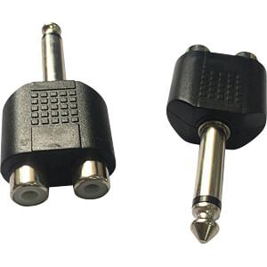 6,3 mm Mono Klinken Stecker auf 2x Cinch Buchse RND CONNECT RND 205-00590