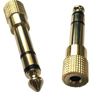 6,3 mm Stereo Klinken Stecker auf 3,5 mm Stereo Klinken Buchse RND CONNECT RND 205-00592