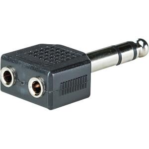 6,3 mm Stereo Klinken Stecker auf 2x 3,5 mm Stereo Buchse RND CONNECT RND 205-00597