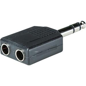 6,3 mm Stereo Klinken Stecker auf 2x 6,3 mm Stereo Buchse RND CONNECT RND 205-00598