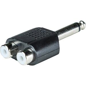 6,3 mm Mono Klinken Stecker auf Cinch Buchse RND CONNECT RND 205-00600