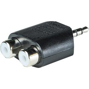 3,5 mm Mono Klinken Stecker auf 2x Cinch Buchse RND CONNECT RND 205-00610