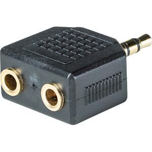 3,5 mm Stereo Klinken Stecker auf 2x 3,5 mm Stereo Buchse RND CONNECT RND 205-00617