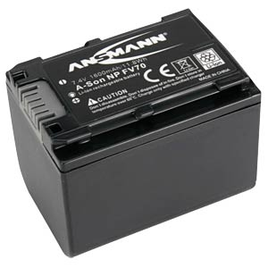 Li-Ion Battery 7,4V 1600mAh ANSMANN 1400-0007
