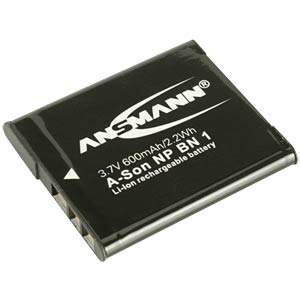 Li-Ion Battery 3,7V 600mAh ANSMANN 1400-0009