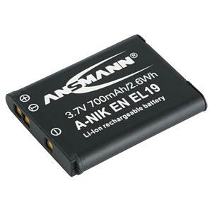 Li-Ion Kamera-Akku 3,7V 700mAh ANSMANN 1400-0016